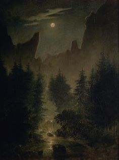 Clearing in the Forest. Caspar David Friedrich