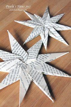 Paula's Haus: Papiersterne falten ...