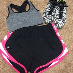 Athletic shorts!! Great condition. No holes or tears. Nike athletic shorts. Have built in underwear. Very cute casual. If you have any questions I'd be more than happy to help in any way! No trades. Make me a reasonable offer & we will negotiate.  Share my closet, I will share yours.  I ship on the next business day after your purchase  Happy poshing ❤️ Nike Shorts