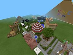 Thats the rest to my amusement park, still not finished. I got to add the water park too.