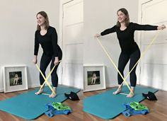 6 sports exercises for a healthy back - Reverse Fly -> Now run Pilates comfortably at home -> pilatesandfriends … - Pilates Training, Pilates Workout, Fitness Workouts, At Home Workouts, Fitness Motivation, Band Workout, Pilates Body, Health Challenge, Workout For Beginners