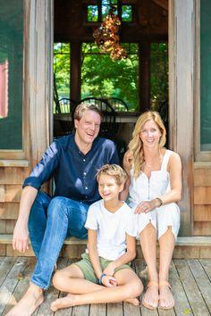 Architect Elizabeth Roberts, her husband, Michael McKnight, and their son, Dean. #remodelista