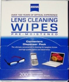 Zeiss Lens Cloths Wipes - I keep these in my purse and in my desk for my eye glasses, sunglasses, iPhone, and iPad. They work really well and are pretty convenient to have on hand.