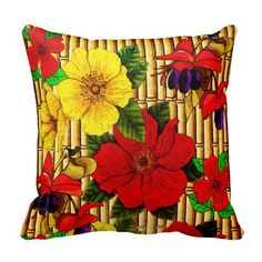 Flowers On Bamboo Pillow