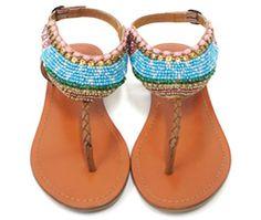 light blue sandals