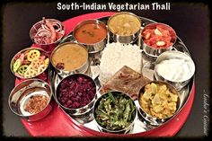 South-Indian Vegetarian Thali Meals (aashascuisine.com)