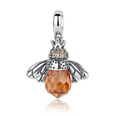 Bumble Abeille 3D 925 Solid Sterling Silver Charm pendentif made in USA