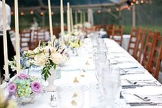 long table setting june wedding woolverton