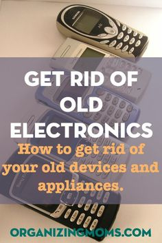 Do you have a ton of old cell phones, computers, printers, and devices? Here's how you can get rid of them. Time to declutter electronics!