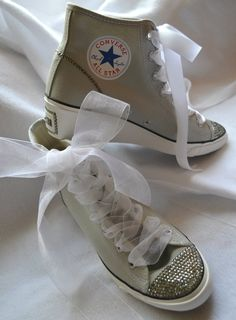 Hi-Ness Converse Bridal Wedge Heels! Choose the Colors of your Wedding by angelareesestudio, $161.95