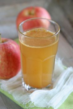 Apple Immunity Cocktail. Drink this every day in the winter to fend off colds and flu.