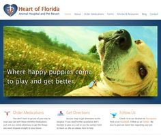 The Heart of Florida Animal Hospital!  Where happy #puppies come to play and get better!  #veterinary #webdesign