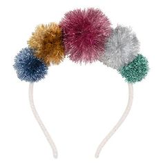 Shop Meri Meri Tinsel Pompom Headband with worldwide delivery for a wonderful way to look festive. The multicoloured pompom headband will go with any outfit Pom Pom Headband, Crown Headband, Headband Laine, Christmas Stocking Fillers, Kids Dress Up, Angora, Christmas Costumes, Christmas Themes, Halloween Costumes