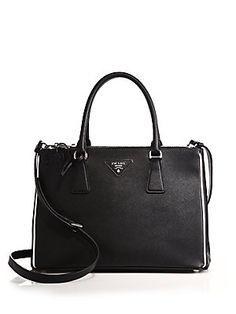 1b46f7dcf180 Prada Saffiano Lux Double-Zip Tote Prada Tote Bag