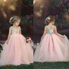 Princess Flower Girl Dresses, Tulle Flower Girl, Wedding Flower Girl Dresses, Dress Wedding, Dress Girl, Vestidos Color Pastel, Vintage Girls Dresses, Tutus For Girls, Pageant Dresses