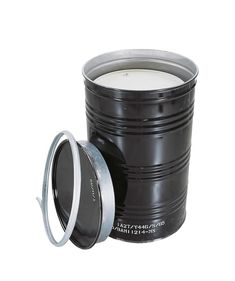 T Coded Salvage Drum, manufactured from steel, with UN certification and clamp ring, black T Code, Oclock, Black Rings, Exterior Paint, Clamp, Drums, Rid, Management, Coding