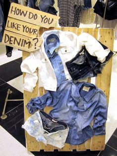 """how do you like your denim?"", pinned by Ton van der Veer"