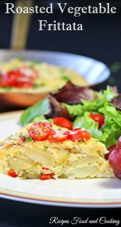 Roasted Vegetable Frittata #WeekdaySupper - Recipes Food and Cooking