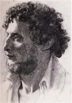 Portrait of an Italian - Artista: Edgar Degas Data da Conclusão: 1856 Estilo: Impressionism Género: portrait Técnica: charcoal Dimensões: 38 x 26 cm Galeria: Art Institute of Chicago, Chicago, IL, USA