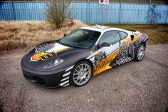Crazy design for Ferrari Megane Rs, Ferrari F430, Grilling Gifts, Car Tuning, Car Wrap, Big Boys, Cars Motorcycles, Cool Cars, Vehicles
