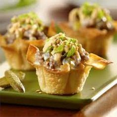 Mini-Cheeseburger Bites are always a hit. These can be complete in 30 minutes - be sure to make plenty!