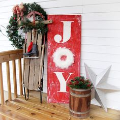 JOY Holiday Porch Si
