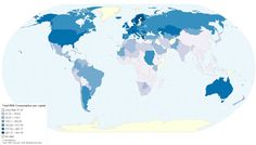 A map of the countries that consume the most milk: | 38 Maps You Never Knew You Needed