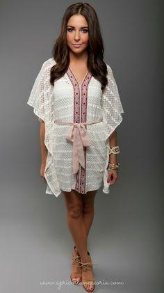 Kimono Dress Tunic, $46.00