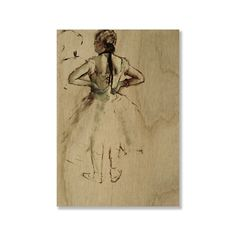 Gallery Direct Edgar Degas' 'Dancer viewed from the back' Print on (Small - 19 inches high x 13 inches wide)