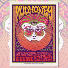 Mudhoney concert poster by Nathaniel Deas by nathanieldeas on Etsy