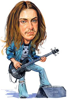Metallica Painting - Cliff Burton by Art Cliff Burton, Funny Caricatures, Celebrity Caricatures, Heavy Metal, Hard Rock, Metallica Art, Metallica Funny, Rock Poster, Ride The Lightning