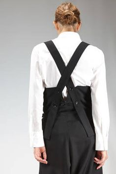 Yohji Yamamoto | pants dungaree in wool gabardine | #yohjiyamamoto