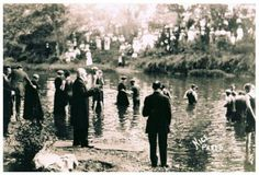 1913 Columbus Ohio Convention baptism. who is in this photo?