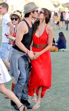 Nina Dobrev & Ian Somerhalder at Coachella.