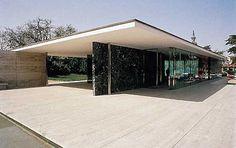 Chapter 24 - The Bauhaus - Architecture - German Pavilion (rebuilt), International Exposition, 1929, Barcelona, Spain; Ludwig Mies van der Rohe