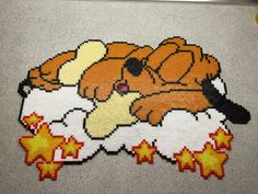 Pluto hama beads by Tine Bergenstoff Hama Beads Disney, Perler Bead Disney, Perler Bead Art, Perler Beads, Hama Beads Design, Hama Beads Patterns, Beading Patterns, Stitch Toy, Iron Beads