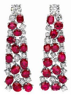 Ruby and Diamond Ear beauty bling jewelry fashion