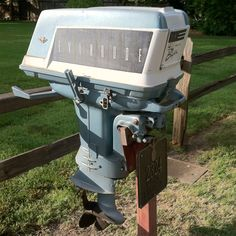 Mailbox from an outboard motor.