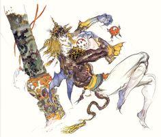 Final Fantasy VI - Clymenus Concept Art - Yoshitaka Amano