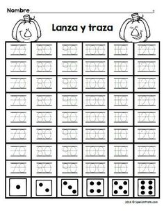 First grade fall themed math worksheets or printables in Spanish. Includes a variety of math sheets for bilingual, dual language and Spanish immersion kids learning how to count, follow sequences, odd and even and much more. Hojas de mate para ninos en primer grado #hojasdematematicas #parimpar #sumas #matematicasparaprimero
