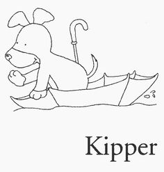 Kipper the dog coloring pages Foundation Phonics Pinterest Dog