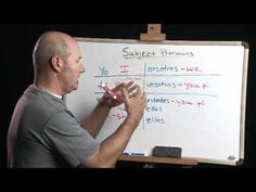 """Subject Pronouns in Spanish - """"How Can I Learn Spanish"""" Part 1 - video Spanish Basics, Spanish 1, Spanish Words, Spanish Activities, Interactive Activities, Learning Spanish, Learn Spanish Free, Learn Spanish Online, Spanish Grammar"""