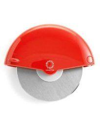 Martha Stewart Collection Soft Grip Pizza Wheel Red