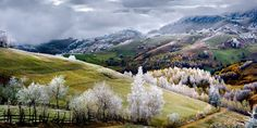 "Glorious award-winning National Geographic photos will make you want to travel the world  Romania, Land of Fairy Tales, was the title of this image by Eduard Gutescu, who won the Merit Prize. He describes it as, ""White frost over Pestera village."""