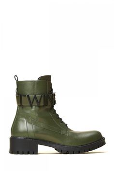 Twin Set Damen Boots Olive | SAILERstyle Twin Set, Trends, Elegant, Designer, Biker, Shoes, Fashion, Bags, Boots Women