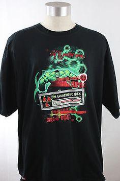 MENS-Black-XXL-MARVEL-Universal-Studios-Orlando-Incredible-HULK-Coaster-T-Shirt
