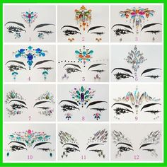2018 New Acrylic Resin Drill Stick Bindi Sticker Handpicked Bohemia And Tribal Style Face And Eye Jewels Forehead Decor Sticker(China) Tribal Style, Festival Face Jewels, Glitter Face, Glitter Gel, Jewel Tattoo, Piercing, Body Stickers, Face Gems, Acrylic Resin