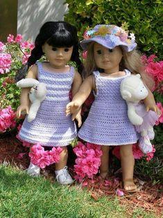 Garden Party Crocheting Pattern for 18 inch dolls