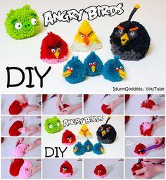 How to Make Angry Birds Fluffy Pom Pom Toys
