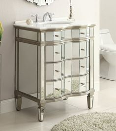 "30"" Mirror Relection Asselin Bathroom Sink Vanity Model # K2274-30"